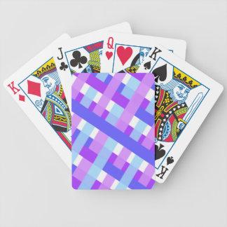geometric plaid gingham diagonal bicycle playing cards