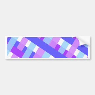 geometric plaid gingham diagonal bumper sticker