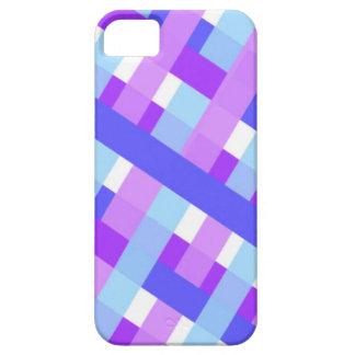 geometric plaid gingham diagonal iPhone 5 case