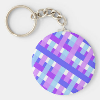 geometric plaid gingham diagonal keychain