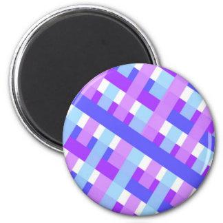 geometric plaid gingham diagonal magnet