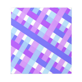 geometric plaid gingham diagonal notepad