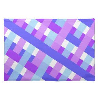 geometric plaid gingham diagonal placemat