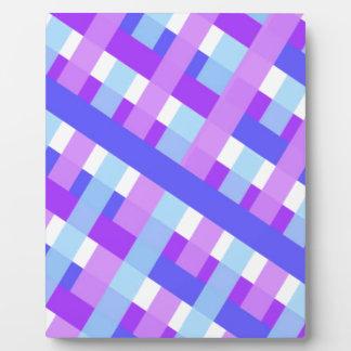 geometric plaid gingham diagonal plaque