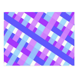 geometric plaid gingham diagonal postcard