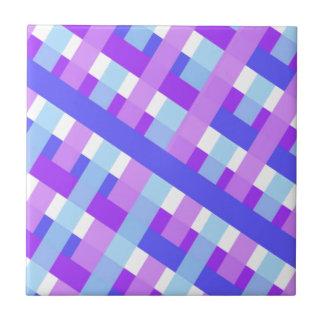geometric plaid gingham diagonal tile