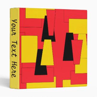 Geometric Pleasure Personalized Vinyl Binder