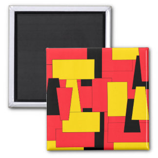 Geometric Pleasure Square Magnet