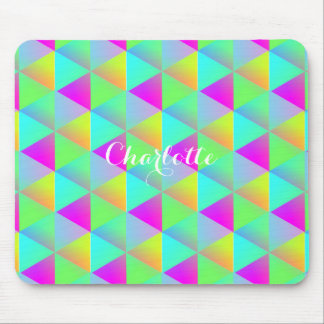 Geometric Popping Rainbow Block Cubes Patterned Mouse Pad