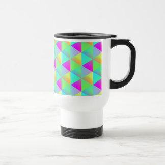 Geometric Popping Rainbow Block Cubes Patterned Travel Mug