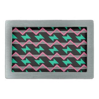 geometric print belt buckle