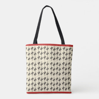 Geometric print classy tote bag