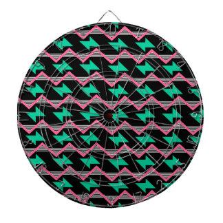 geometric print dartboard