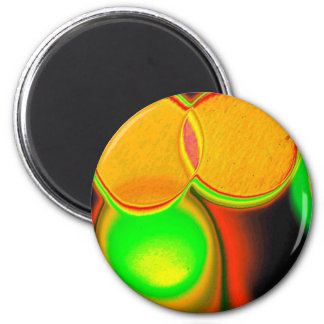Geometric psychedelic Circles 2 Inch Round Magnet