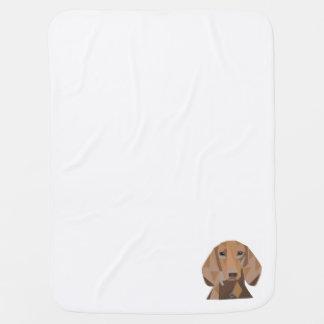 Geometric Puppy Baby Blanket