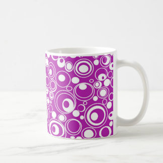 Geometric Purple Circles Coffee Mug