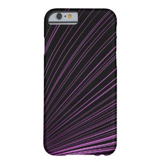 Geometric Purple Lines on Black, iPhone 6/6s Case