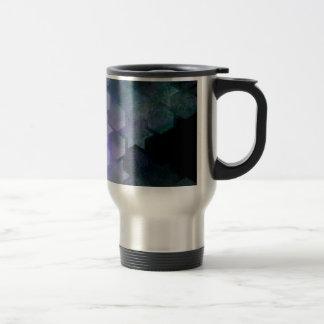 Geometric Purple Stars & Hexagons Travel Mug