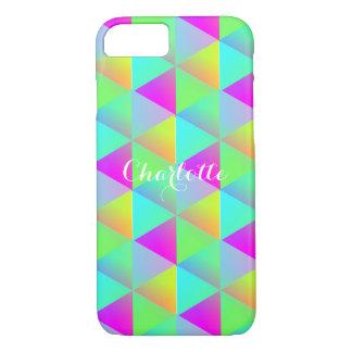 Geometric Rainbow Block Cubes Personalized iPhone 8/7 Case