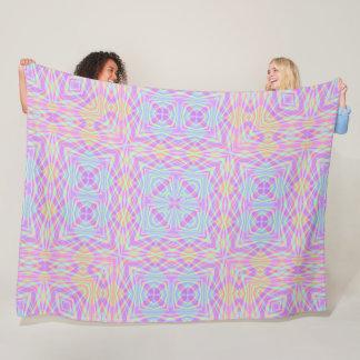 Geometric Rainbow Mandala Plush Pattern Fleece Blanket