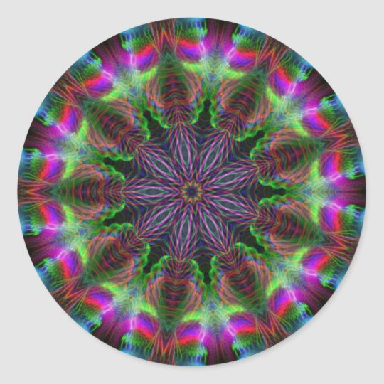 Geometric Rainbow Round Sticker