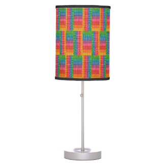 Geometric Rainbow Stripes Lamp