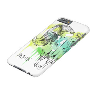 Geometric Ram skull with name Barely There iPhone 6 Case