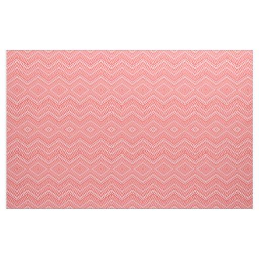 Geometric Red White Looks Pink Fabric