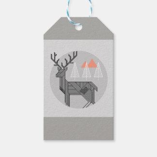 Geometric Reindeer Christmas Tags