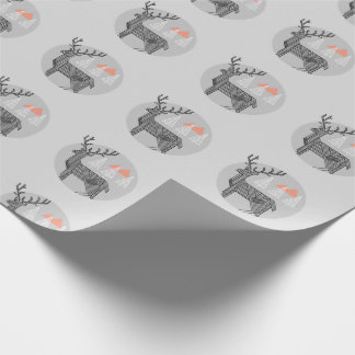 Geometric Reindeer Wrapping Paper