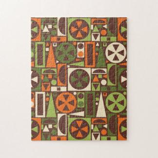 Geometric Retro 50s Mid-Century Modern Abstract Jigsaw Puzzle