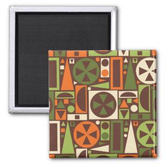 Geometric Retro 50s Mid-Century Modern Abstract Magnet