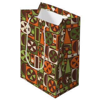 Geometric Retro 50s Mid-Century Modern Abstract Medium Gift Bag