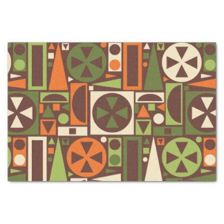 Geometric Retro 50s Mid-Century Modern Abstract Tissue Paper