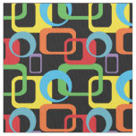 Geometric Retro Multicolored Pattern Fabric