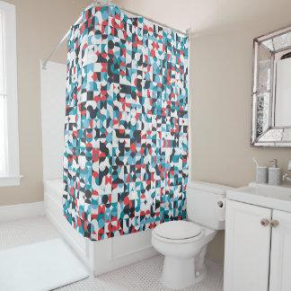 Geometric Retro Pattern Shower Curtain