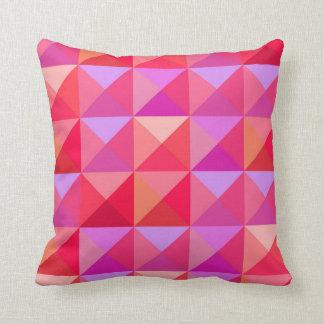 Geometric  Retro Pink Throw Pillow