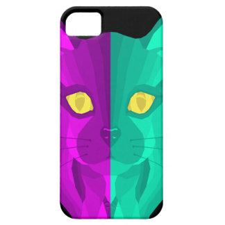 Geometric Retro Second Cat Design iPhone 5 Covers