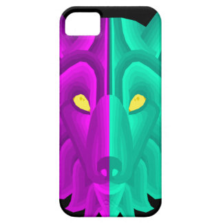 Geometric Retro Wolf Design Case For The iPhone 5