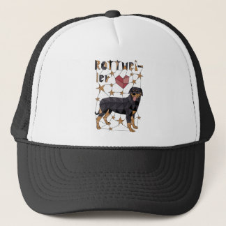 Geometric Rottweiler Trucker Hat