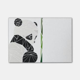 Geometric sad panda post-it® notes