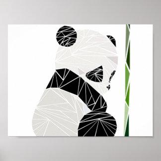 Geometric sad panda poster