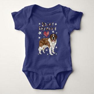 Geometric Saint Bernard Baby Bodysuit