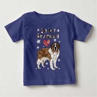 Geometric Saint Bernard Baby T-Shirt