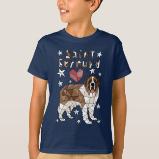 Geometric Saint Bernard T-Shirt