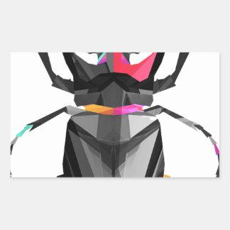 Geometric Scarab Sticker