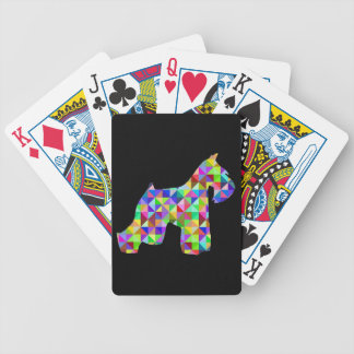 Geometric Schnauzer Bicycle Playing Cards