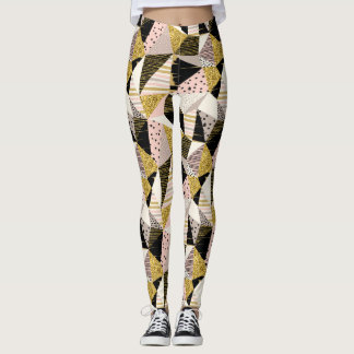 Geometric seamless glitter pattern Leggings
