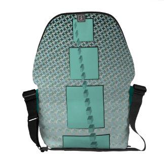 Geometric Seas Rickshaw Messenger Bag