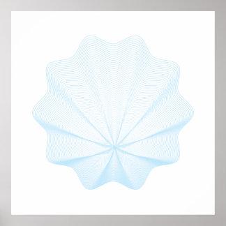 Geometric seashell  I Poster